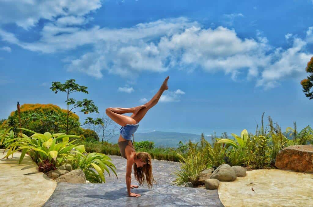 handstand outdoors